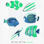 Комплект тениски с морски мотиви OCEAN