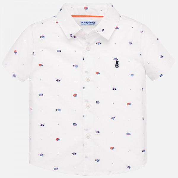 Риза с принт рибки за бебе момче