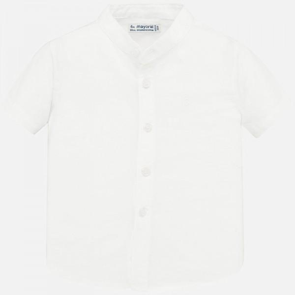 Риза с яка тип мандарин за  момче
