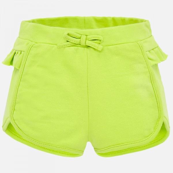 Къси панталонки  с къдрички за бебе момиче