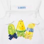 Комплект къси панталони и топ с връзки за бебе момиче