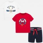 """Комплект """"ROWING"""" 2 тениски  и къси панталони за бебе момче"""