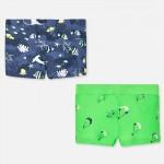 Комплект къси бански костюми с щампи за бебе момче