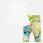 Комплект тениска с ананас и цветен клин