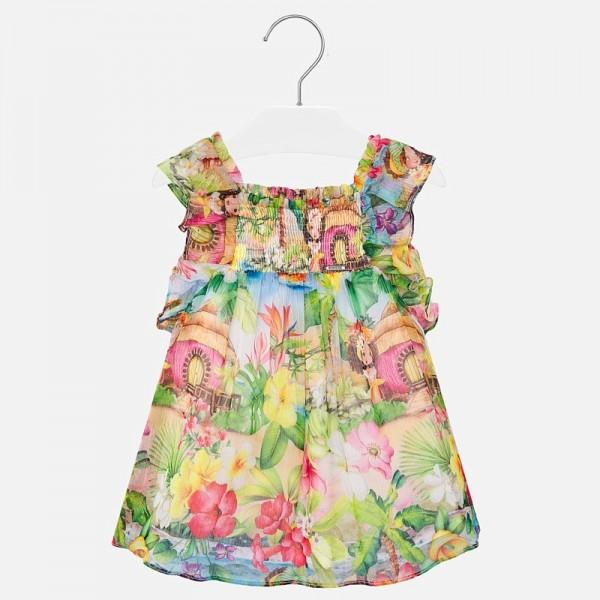 Цветна ефирна рокля за бебе момиче