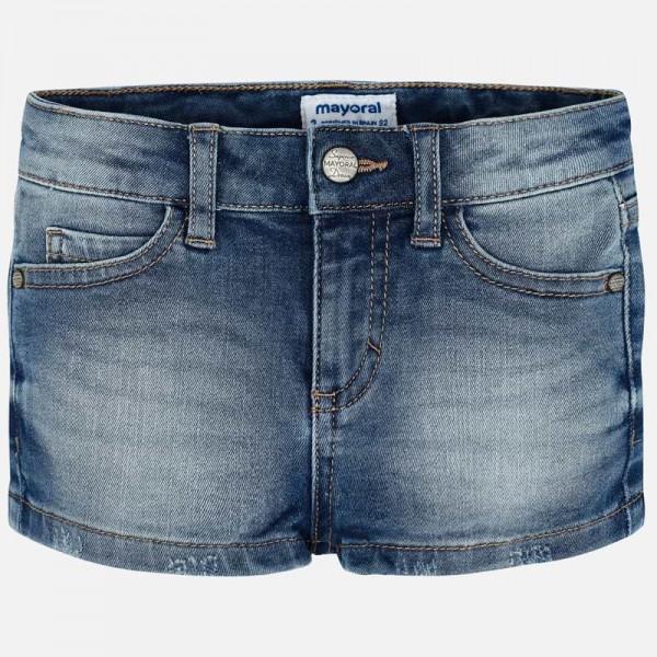 Къси панталонки деним за момиче