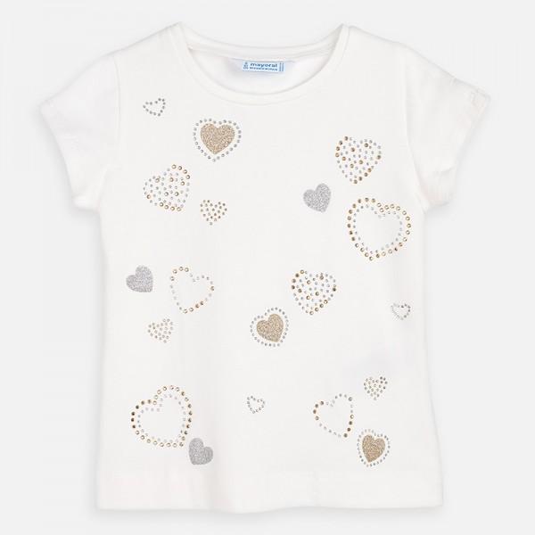 Тениска на сърца за момиче