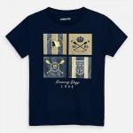 Тениска с принт щитове