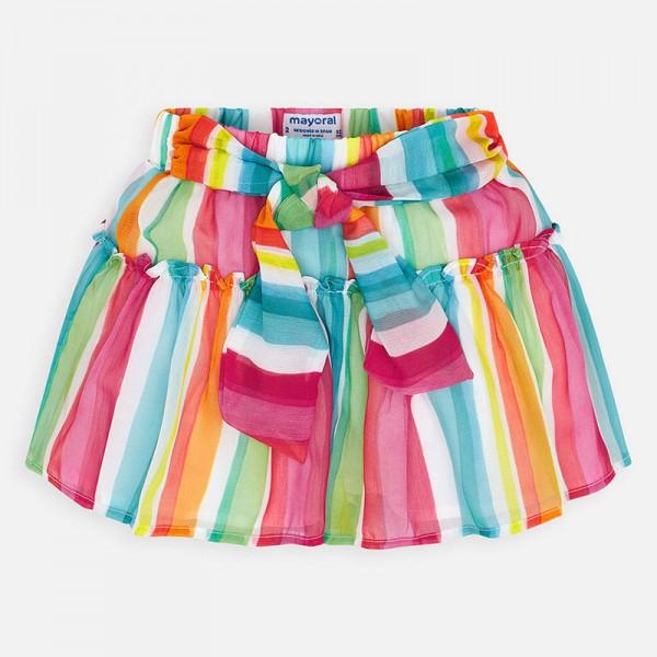 Многоцветен къс панталон за момиче