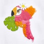 Рокля с бродерия папагал