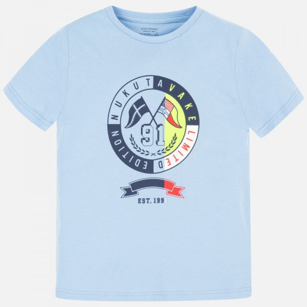 Тениска с лого отпред-тийн серия