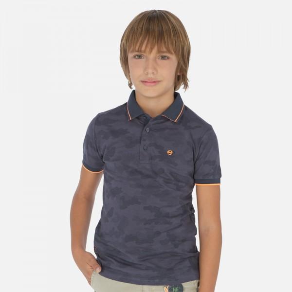 Поло тениска с цветни кантове