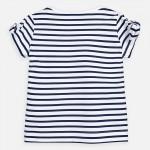 Тениска с панделка на ръкава