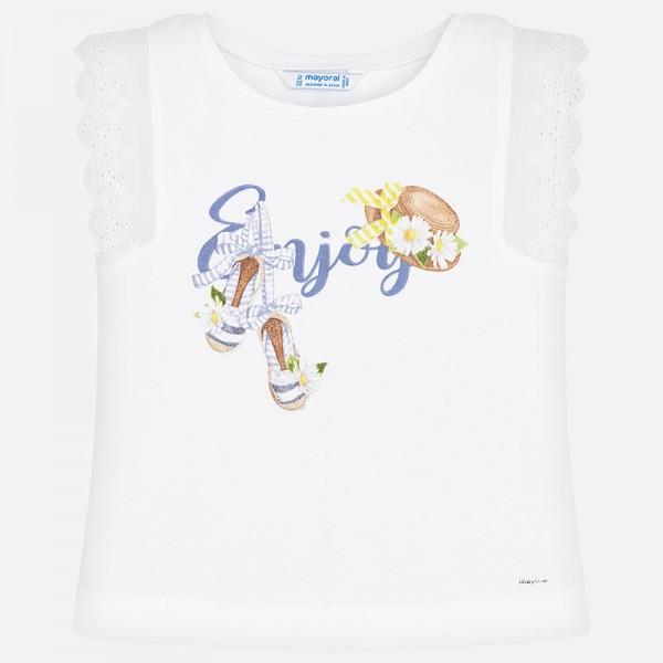Тениска с принт Enjoy
