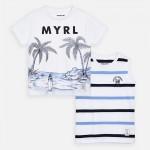 Комплект тениски с палми  за момче