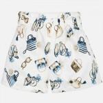 Къс панталон с принт аксесоари за момиче