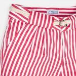 Къс панталон на райета с колан за момиче
