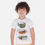 Комплект тениски с щампи и бермуди за момче Sunset beach