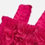 Бански от две части с апликации на цветя за момиче