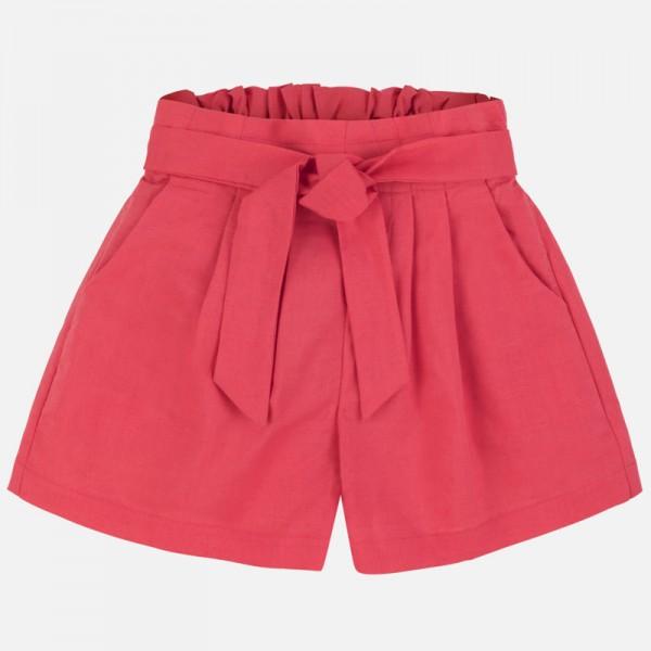Къс панталон от лен за момиче