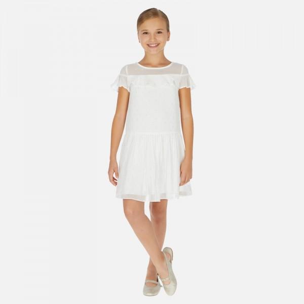 Плисирана рокля от шифон