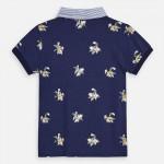Поло тениска с къс ръкав и щампи за момче