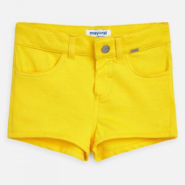 Едноцветни къси панталонки за момиче