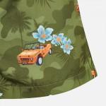 Бански бермуди с щампи на коли за момче