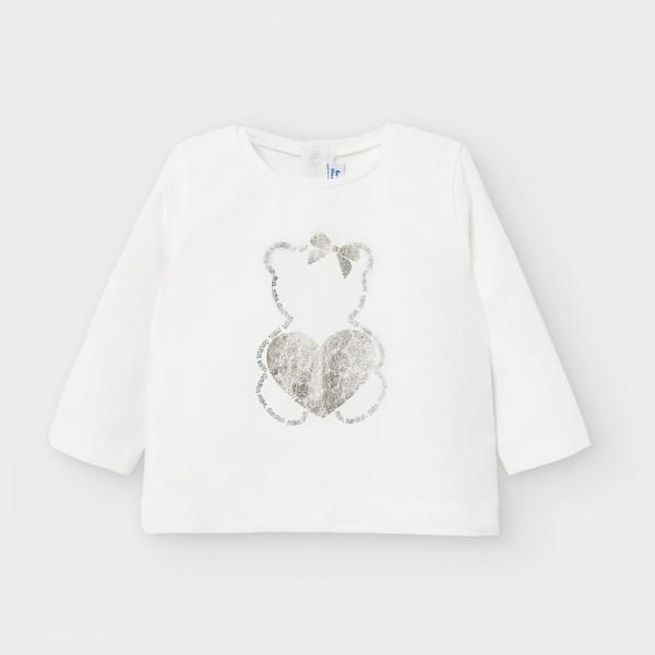Блуза с мече и сърце за бебе момиче