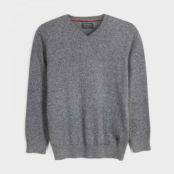 Пуловер с остро деколте за моче - тийн серия