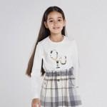 Блуза букви с пайети за момиче-тийн серия