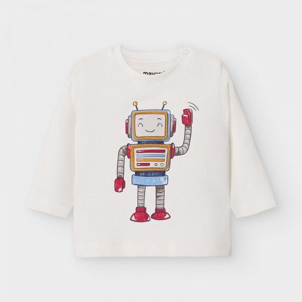 Блуза play with robot  за бебе момче
