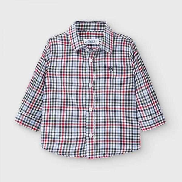 Риза на карета с дълъг ръкав за бебе момче