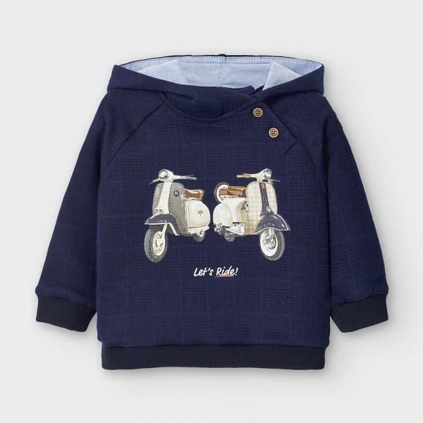 Суичър с принт мотори за бебе момче