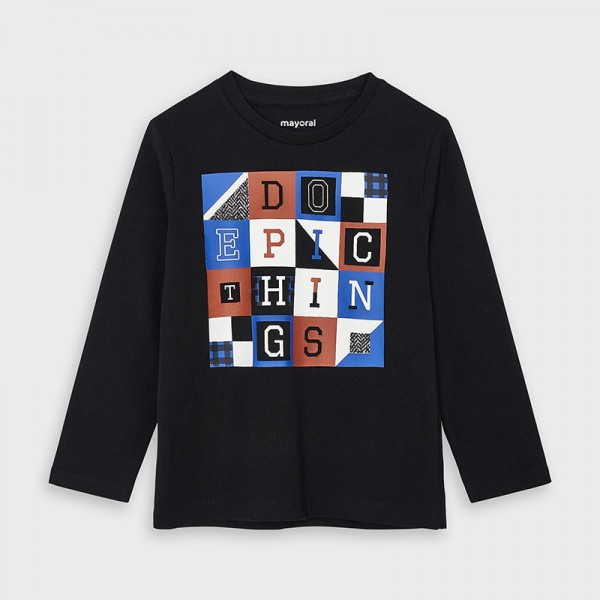 Блуза с принт букви за момче