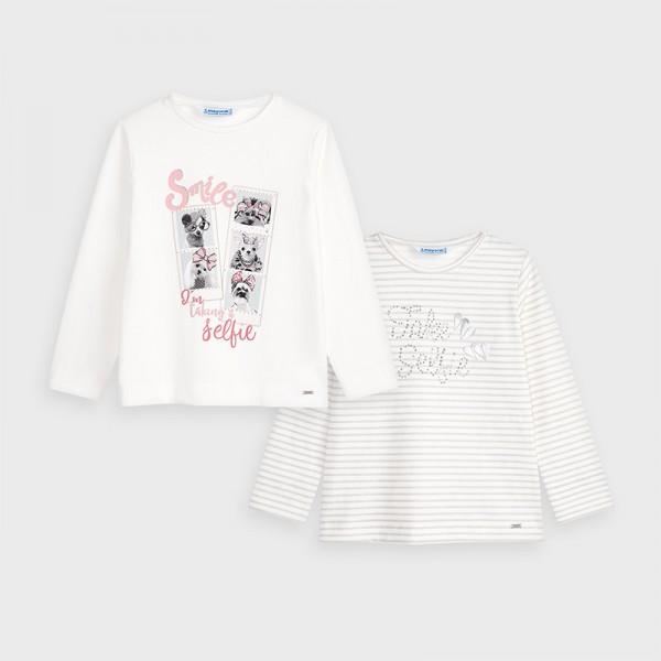 Комплект блузи кученца за момиче