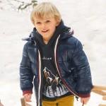 Ватирано яке с цветни кантове за момче