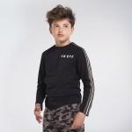 Блуза с кантове на ръкавите за момче - тийн серия