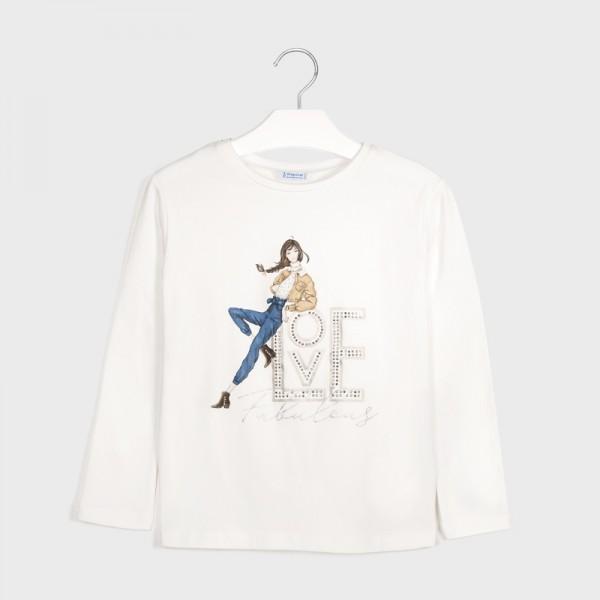 Блуза  love за момиче - тийн серия