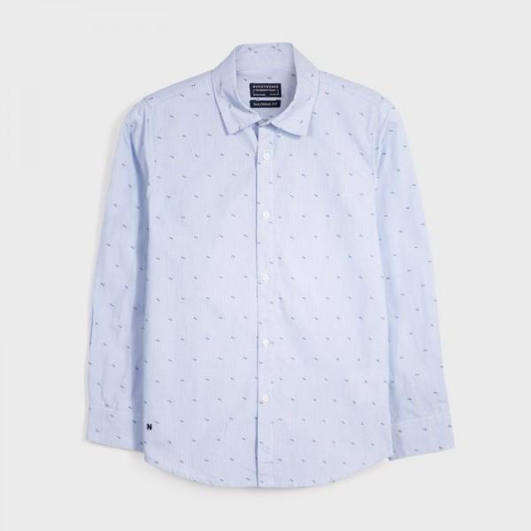 Риза жакард с щампа за момче - тийн серия