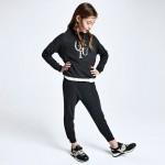 Спортен панталон със странични кантове за момиче - тийн серия
