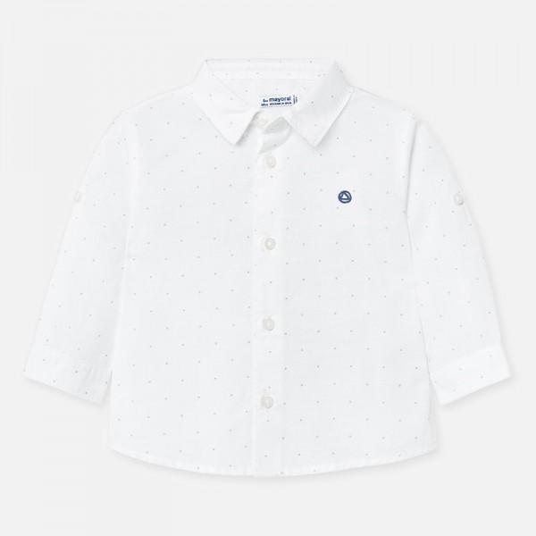 Риза с дълъг ръкав от лен за  момче
