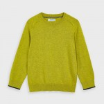 Едноцветен памучен пуловер за момче