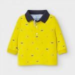 Поло блуза с щампи за бебе момче