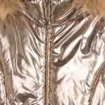 Шуба с метализирано покритие за момиче