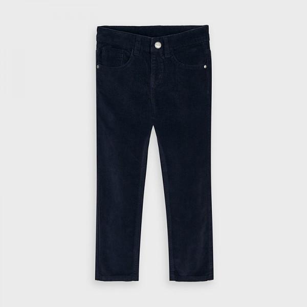 Панталон от рипсено кадифе slim fit за момче