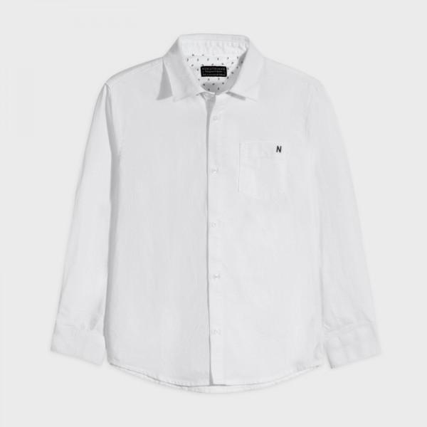Основна риза oxford с дълъг ръкав за момче