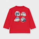 Блуза с принт коли за бебе момче