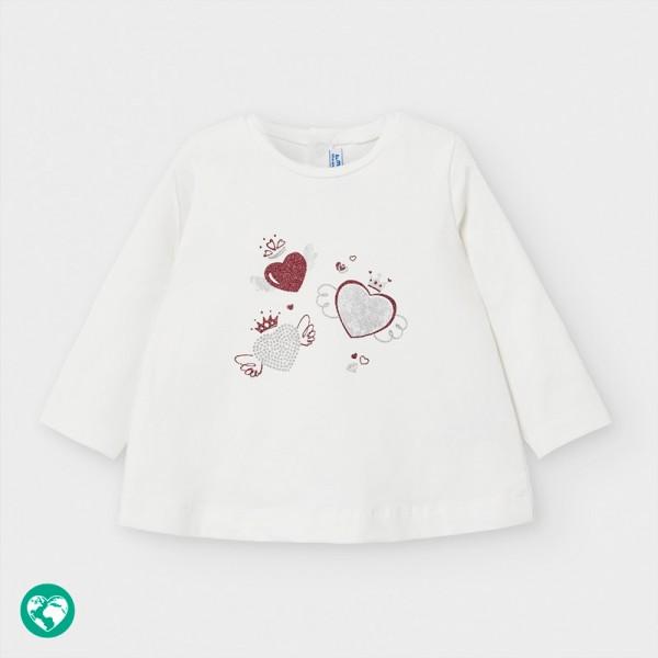 Блуза с принт отпред за бебе момиче