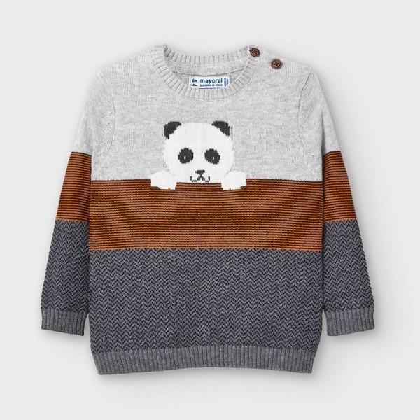 Пуловер панда за бебе момче